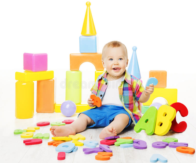 Baby Educational Toys, Kid Play ABC Letters for Children royalty free stock images