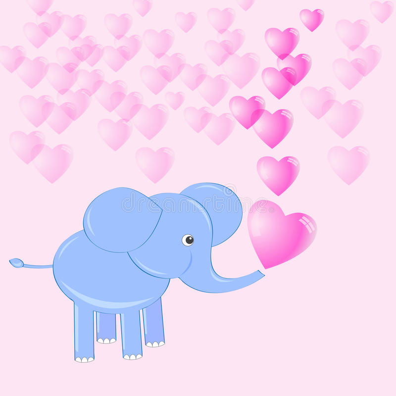 Download Baby elephant stock vector. Image of happy, funny, background - 23236099