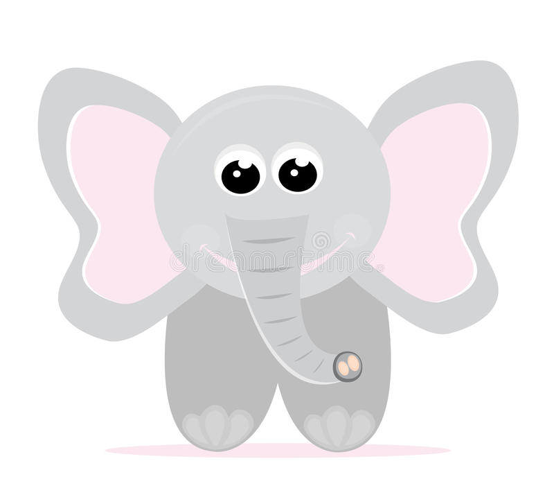 Baby elephant cartoon vector illustration