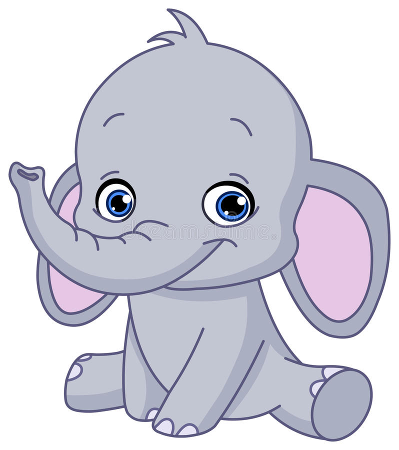 Download Baby elephant stock vector. Image of friendly, character - 31030901
