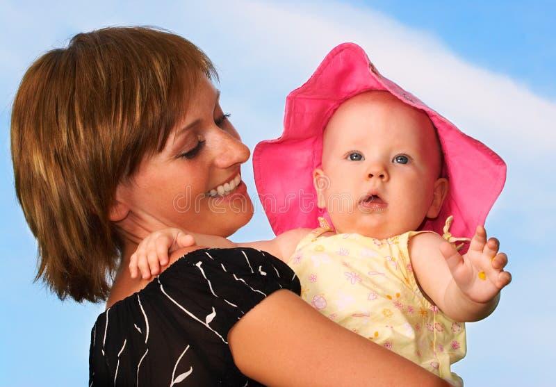 Baby en moeder royalty-vrije stock foto