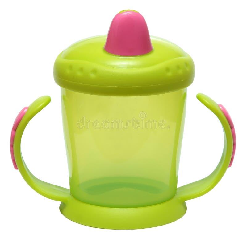 Baby-Fütterungsschale lokalisiert auf weißem Hintergrund stockbild