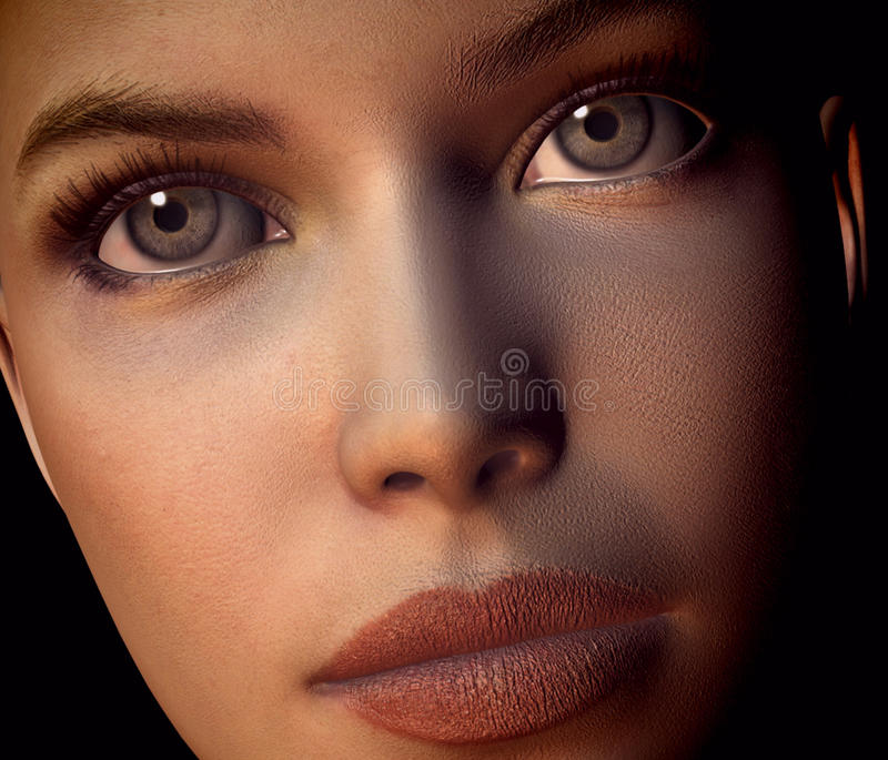 Download Baby Face stock illustration. Image of eyes, lips, pretty - 12547468