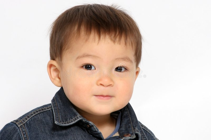 Baby Face. A portrait of a toddler boy royalty free stock photo