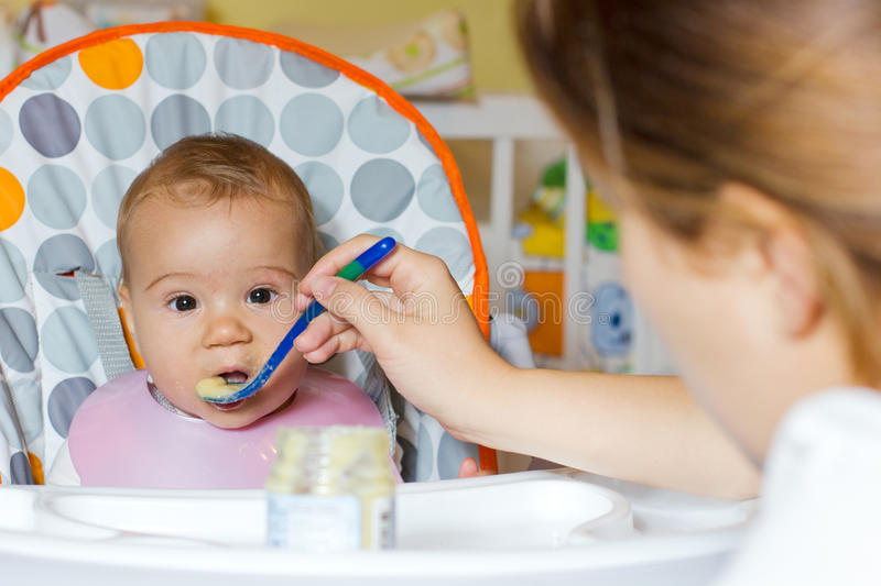 Download Baby feeding stock image. Image of toddler, portrait - 27103615