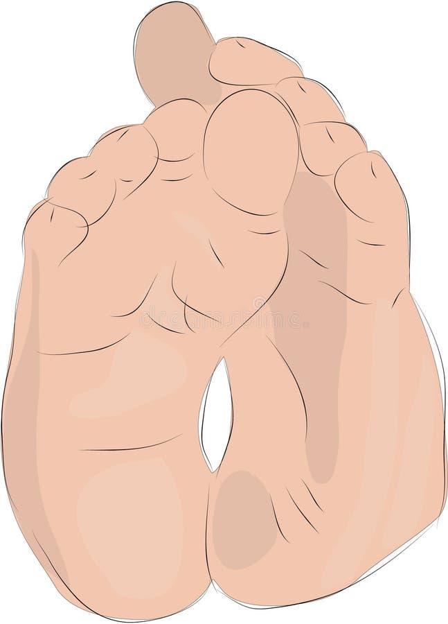 Baby Feet vector illustration