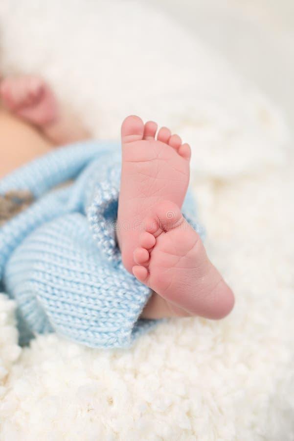 baby feet nowonarodzeni obraz stock