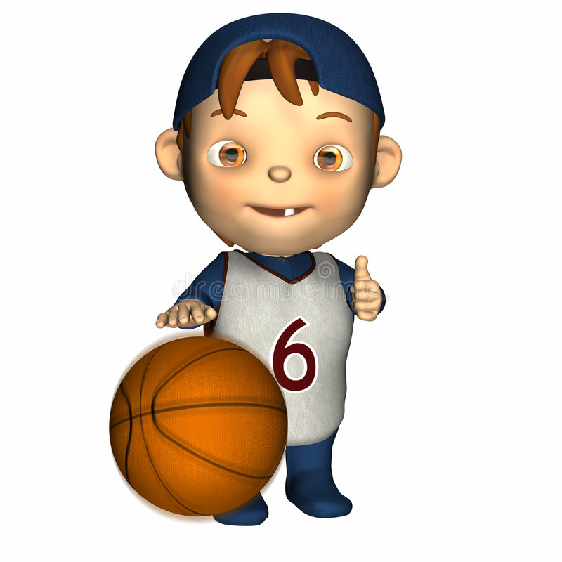 Download Baby - First Basketball stock illustration. Image of thumb - 1720767