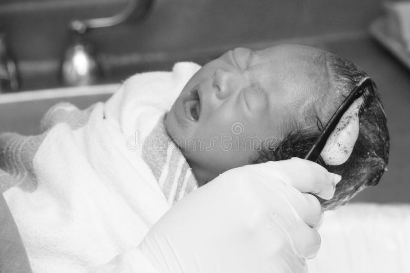 Download Baby First Bath stock image. Image of baby, bath, healthcare - 11682657