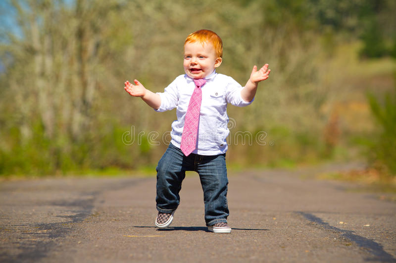 Download Baby First Steps stock photo. Image of year, happy, head - 31401034