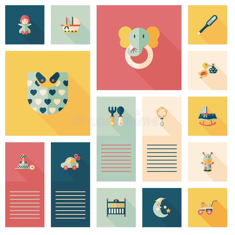 Baby flat ui bakcground set. Vector illustration file vector illustration