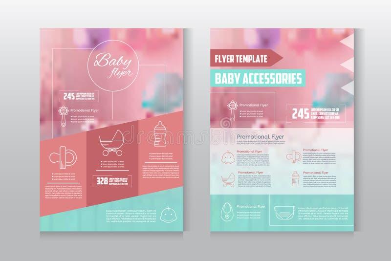 Baby flyer letterhead template royalty free illustration