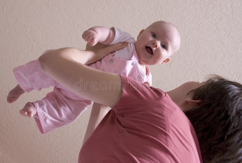 Baby flying royalty free stock photo