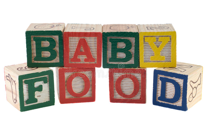 Download Baby Food stock photo. Image of infant, block, spell, text - 8110716