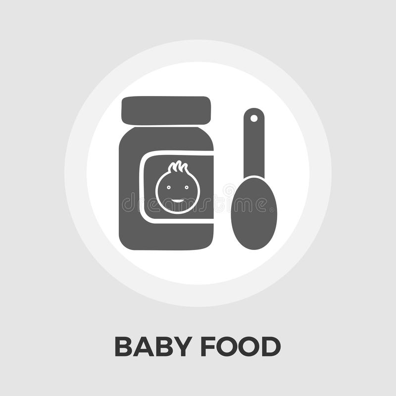 Baby Food Flat Icon royalty free illustration