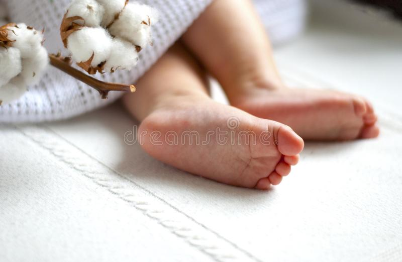 Baby foot stock photo