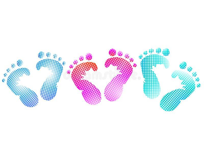 Baby footprint royalty free illustration
