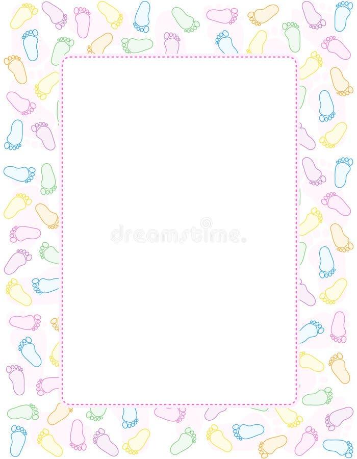 Download Baby footprint border stock vector. Illustration of babies - 17257224