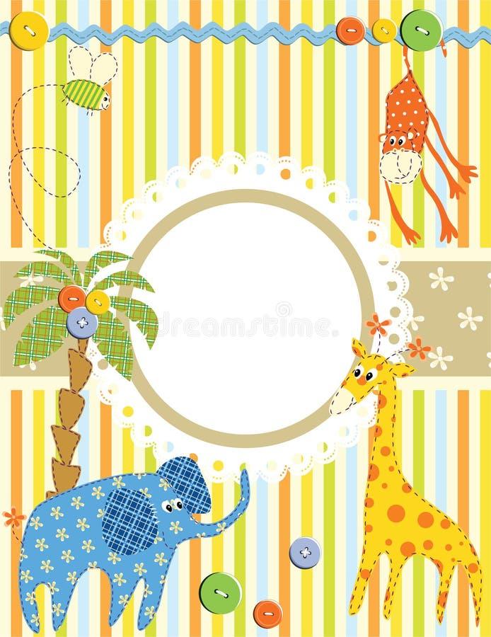 Baby frame or card vector illustration