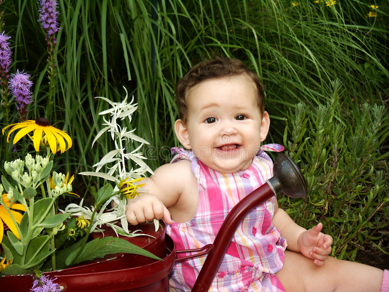 Download Baby In Garden Royalty Free Stock Images - Image: 195009