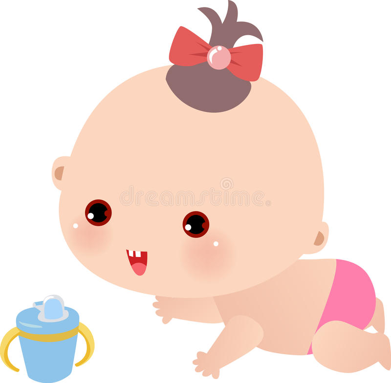 Download Baby girl stock vector. Image of decoration, birthday - 11255648