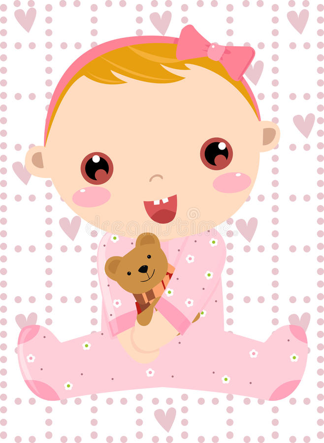 Download Baby girl stock vector. Image of picture, figure, baby - 13842428