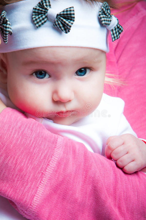 Download Baby girl stock photo. Image of baby, blue, cute, white - 17483746
