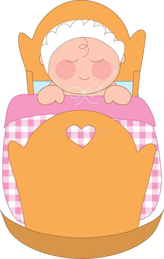 Baby girl royalty free illustration