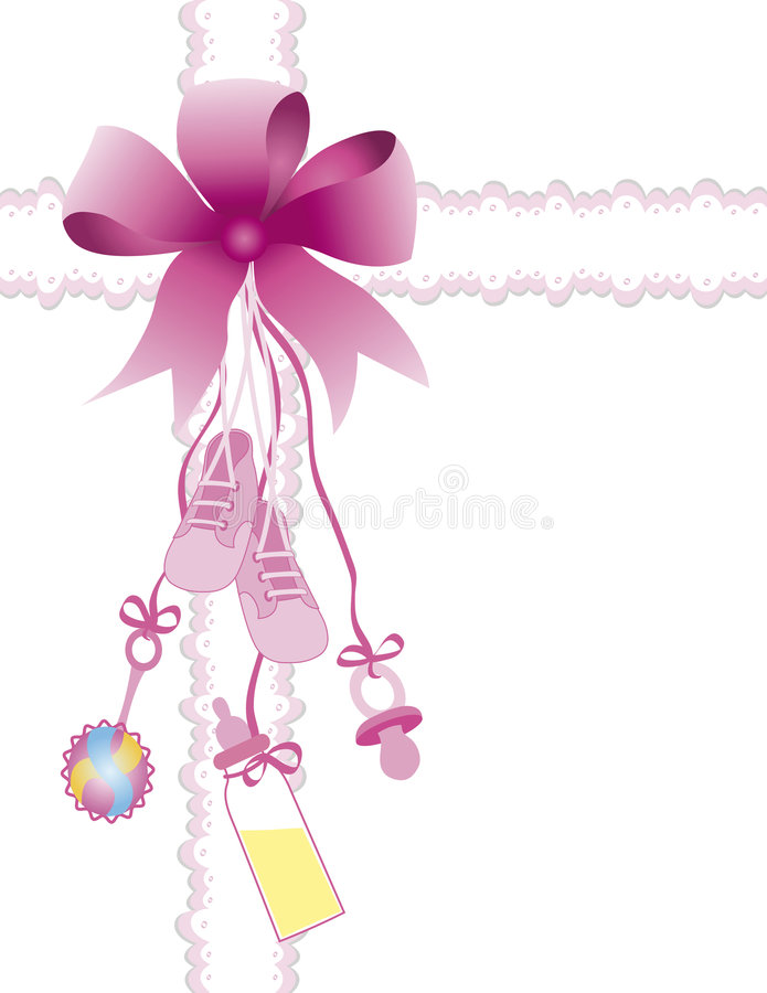 Baby girl stock illustration