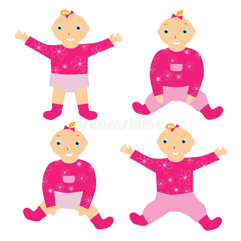 Download Baby girl stock vector. Image of people, standing, isolated - 25580715