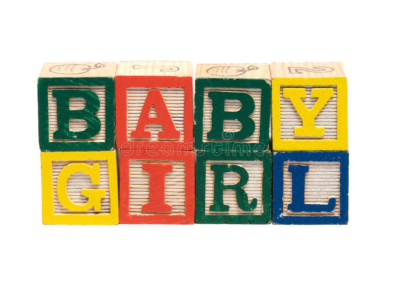 Download Baby Girl stock image. Image of learning, teach, wooden - 4792587