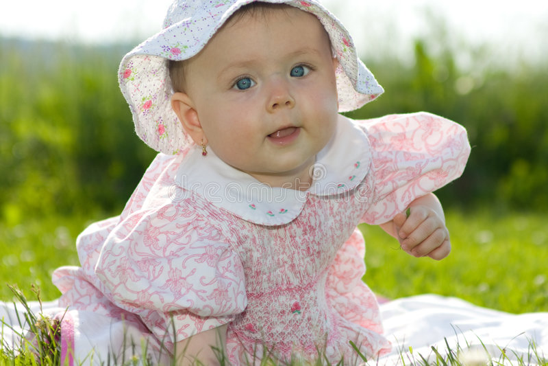 Baby girl royalty free stock photo