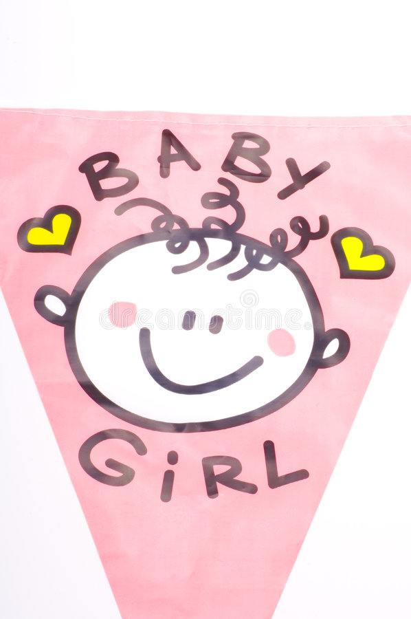 It is a baby girl! stock illustration