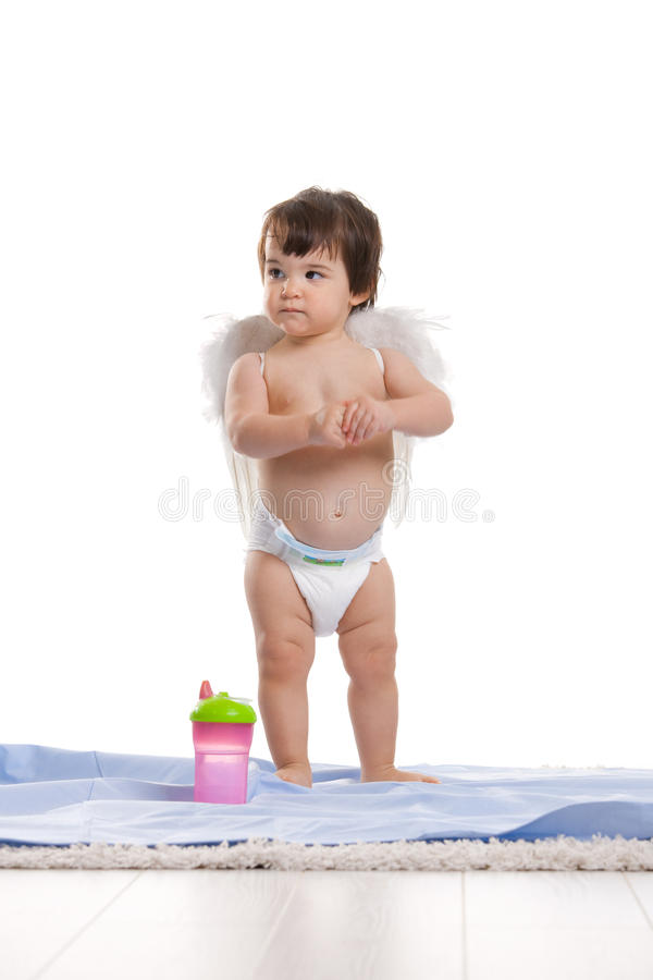 Download Baby girl with angel wings stock photo. Image of caucasian - 11019516