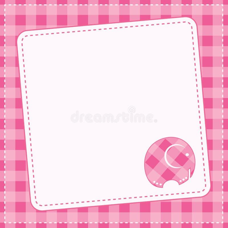 Baby girl announcement card. Vector illustration. stock illustration