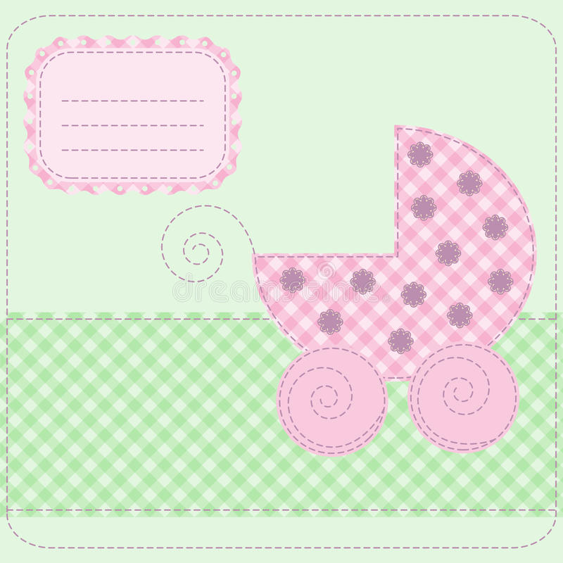 Baby girl arrival vector illustration