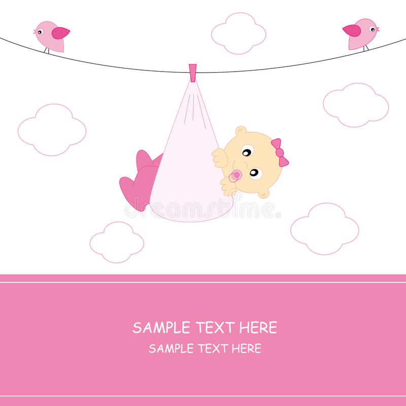 Download Baby girl. arrival stock vector. Image of childhood, beauty - 16656913