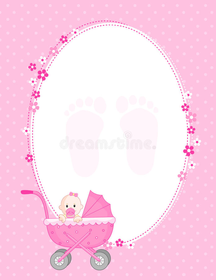Download Baby girl arrival stock vector. Image of child, announcing - 21623303