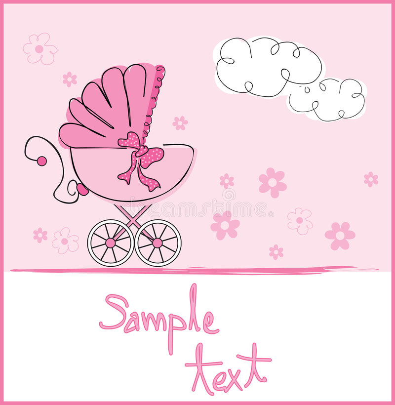 Free Baby Girl Arrival Royalty Free Stock Photos - 8526018