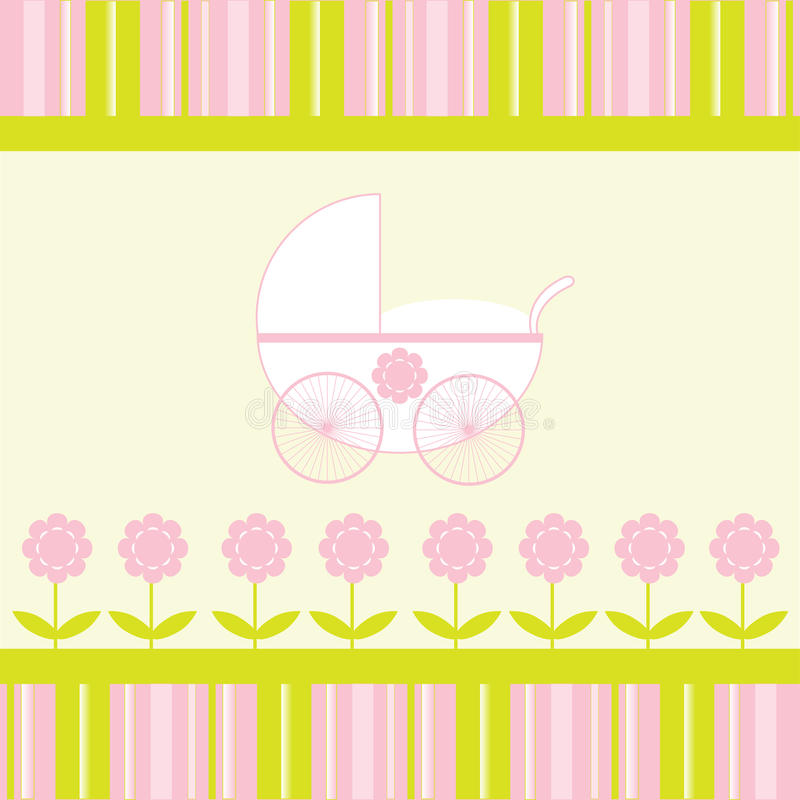 Download Baby Girl Arrival Announcement Card Stock Photos - Image: 15275533