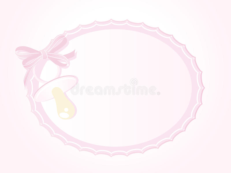 Baby girl arrival. Announcement card stock illustration