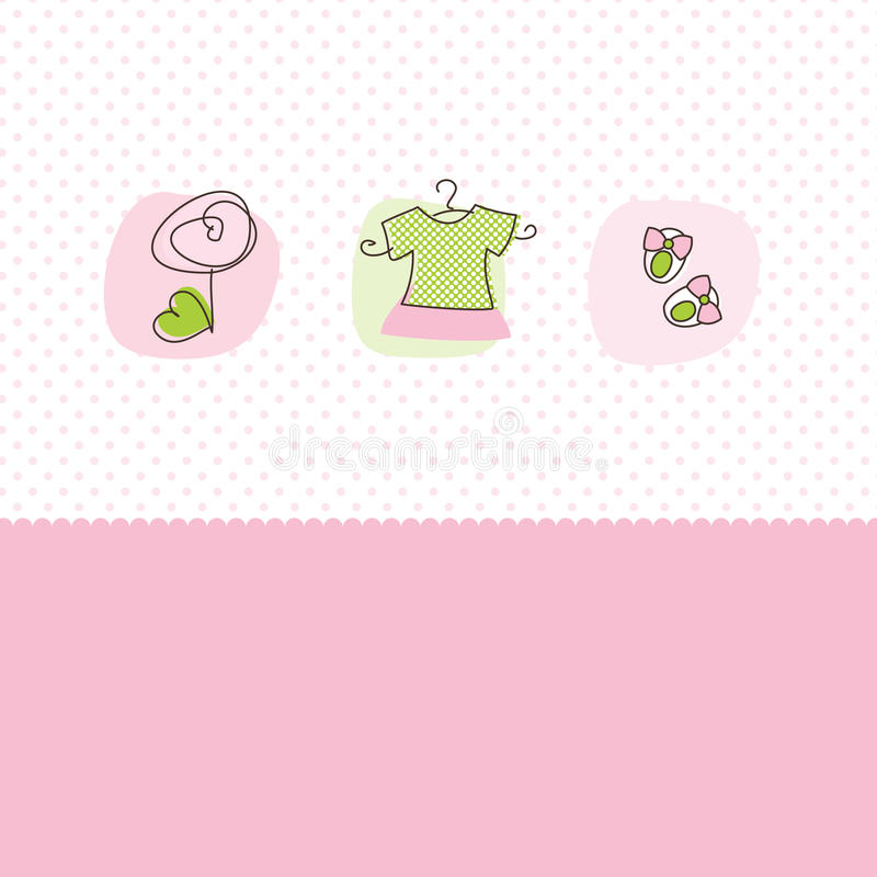 Baby girl arrival announcement cards stock photo