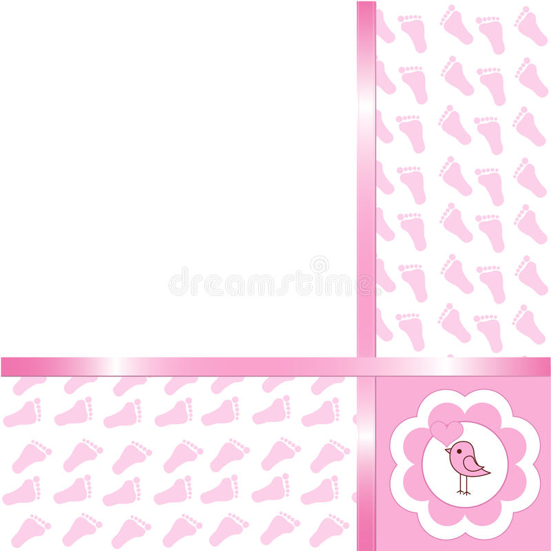 Download Baby girl arrival card stock vector. Image of greeting - 13500223