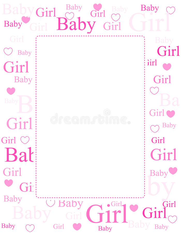 Download Baby Girl Arrival Card / Background Stock Vector - Illustration of born, border: 17257179