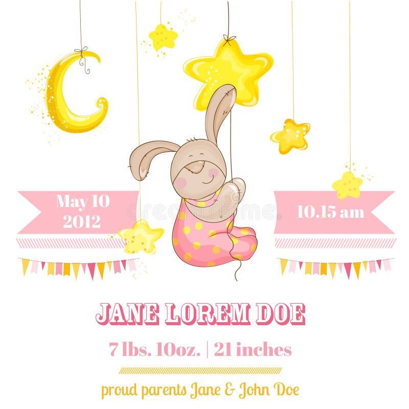 Baby Girl Arrival Card vector illustration