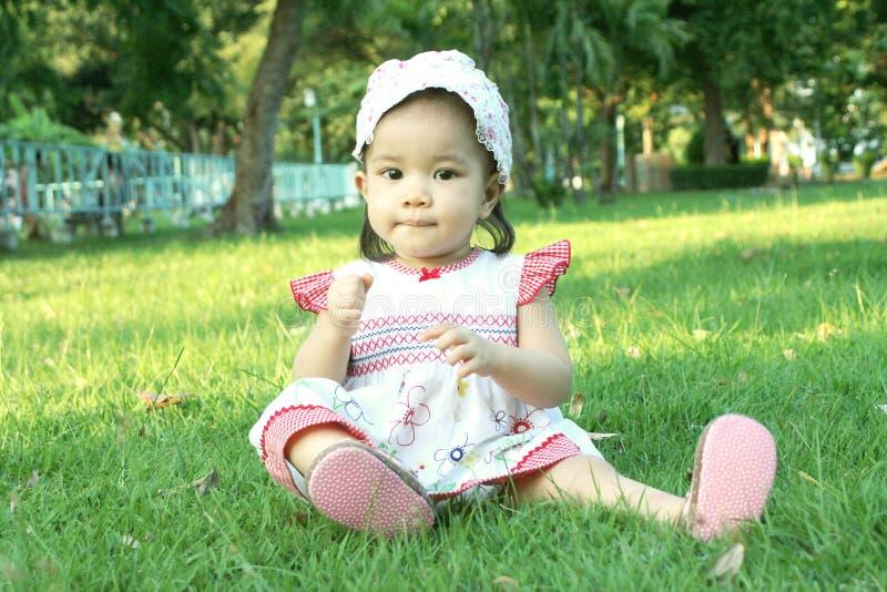 Baby girl asian stock photos