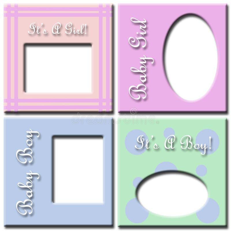 Download Baby girl and boy frames stock illustration. Image of design - 4686134