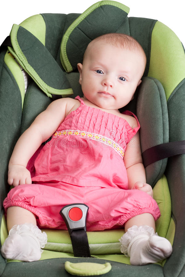 Download Baby Girl in a Car Seat stock image. Image of person - 16151261