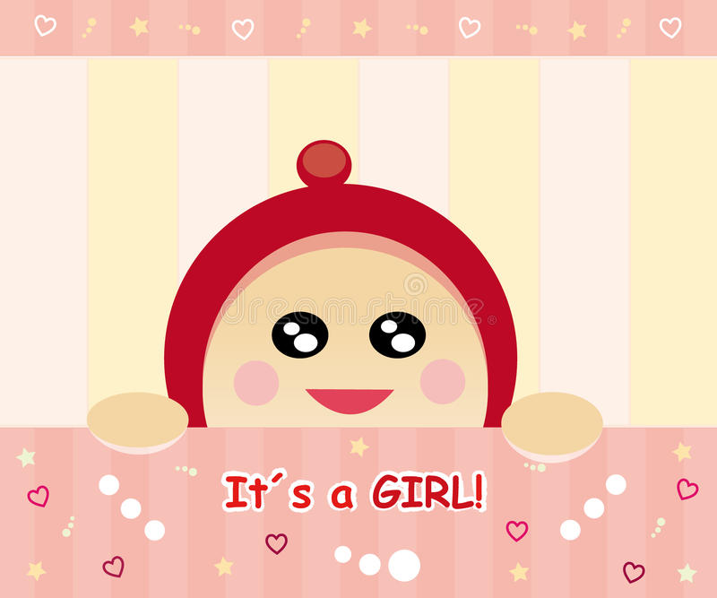 Download Baby girl card stock illustration. Image of background - 16704041