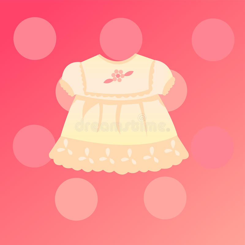 Baby girl card stock illustration